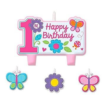 Amscan Sweet 1st fiesta de cumpleaños vela de cumpleaños Set ...