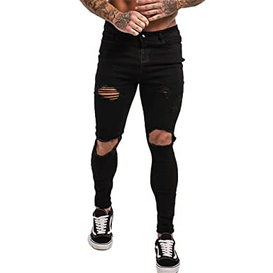 Amazon.com: Pantalones vaqueros de algodón ligero para ...