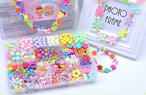 Jewelry Beads Toys, Magnolian Handmade Jewelry Making Kits for Children Bracelets, Necklace, Early Childhood Education Toys  Perfect Christmas Gift-6…