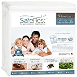 SafeRest Premium Box Spring Encasement - Lab Tested - 100% Bed Bug, Dust Mite and Waterproof - Exclusive Zipper Flap Protection - Vinyl Free and Noiseless - Twin Size
