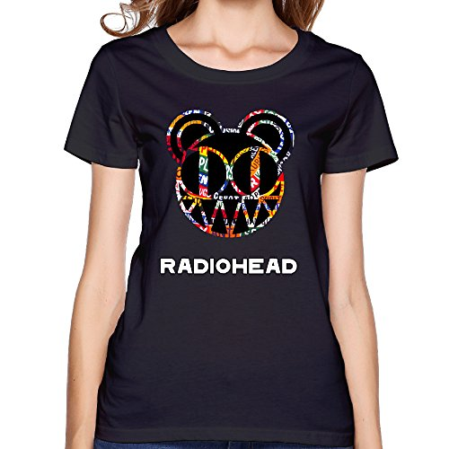 Women's Radiohead Jigsaw Falling Into Place Band T-shirts Sexy Slim High-quality 100% Slub Cotton ()
