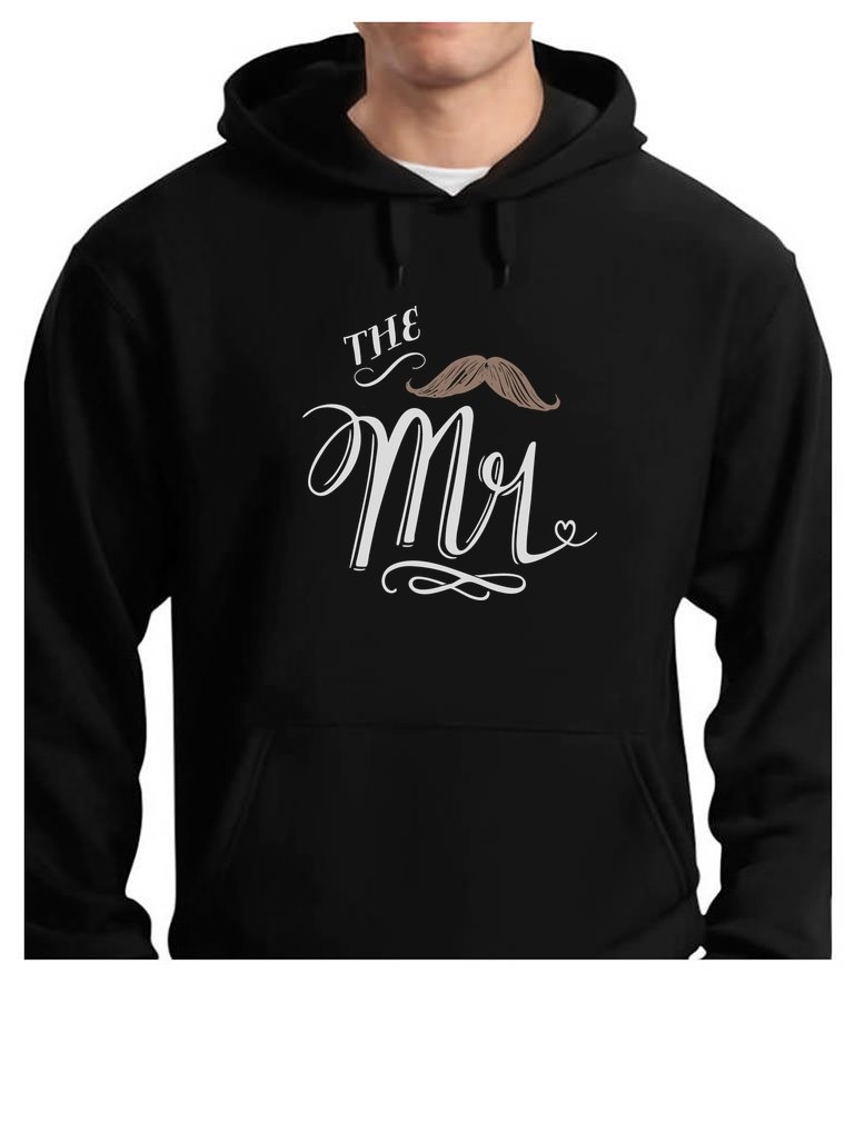 The Mr. Wedding Gift for Couples/Married Couples - Anniversary Gift Hoodie Large Black