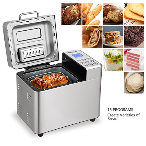 Automatic Bread Maker with 15 Programs,Safeplus 2LB Programmable Bread Machine with 15 Hours Delay Timer, 1 Hour Keep Warm by safeplus (Image #2)