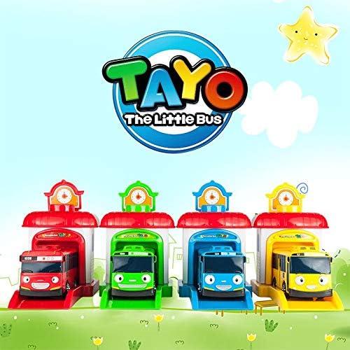 CBPP4ピース/セット韓国かわいい漫画ガレージタヨは少しバスモデルミニタヨプラスチック子供赤ちゃんの車のおもちゃ子供向けクリスマスギフトおもちゃの車のる