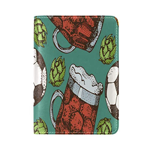 Passport Cover Case Beer Party Drink Hand-painted Ideas Leather&microfiber Multi Purpose Print Passport Holder Travel Wallet For Women And Men 5.51x3.94 In