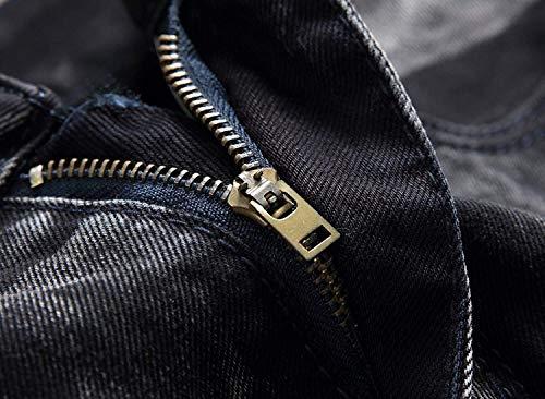 De Hombres Chicos Sin Ocio Pantalones Pantalones Retro De Moda Pantalones De Destruidos Mezclilla Pretina Negro Media Los Fit De Rectos Slim Vaqueros Mezclilla Cintura Pantalones Clásico De De Z8xnI8F1