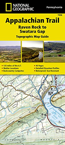 Appalachian Trail, Raven Rock to Swatara Gap [Pennsylvania] (National Geographic Topographic Map Guide) (Best Hiking Map App)