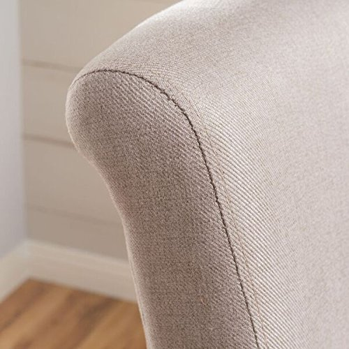 Tristan Wheat Fabric Swivel Barstool