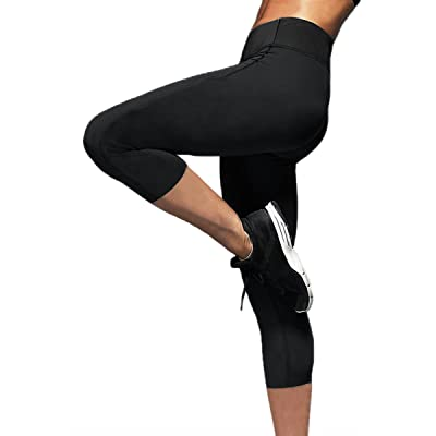 Womens Slimming Capris Pants Hot Thermo Neoprene Sweat Sauna Body Shapers Yoga Sport Leggings