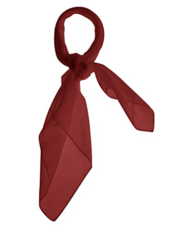 Dresstells Petit carré foulard écharpe bandeau cheveux en mousseline  polyester multi-usages 65cm×65cm,Bordeaux  Amazon.fr  Vêtements et  accessoires 7869f60c28d