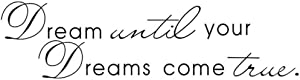 Newsee Decals Dream Until Your Dreams Come True Wall Famous PVC Wall Sticker Decal Quote Art Vinyl Black