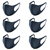 The Deals Store Paquete de 6 Cubrebocas De Tela Lavable Reusable Antipolvo Unisex Azul Marino