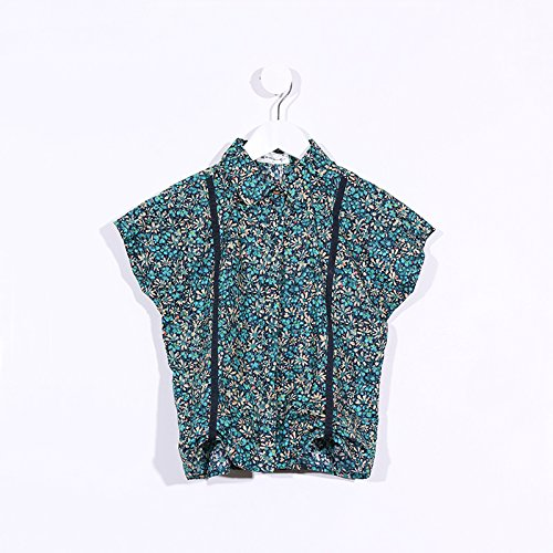 Limited Edition Print Floral (Limited Edition Girls Suspenders Shirt (Green Floral Print, 10))