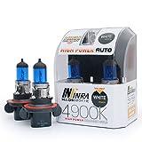 Infinra H13 (9008) 60W/55W 4900K White Xenon Halogen Headlight Bulbs (Pack of 2)