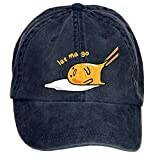 Jidlg Unisex Cotton Gudetama Quotes Let Me Go Cartoon Adjustable Sun Visor Baseball Cap Navy