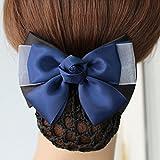 usongs Hair accessories stewardess career head flower hotel staff nurse bank hairnet hairpin plate hair string bag