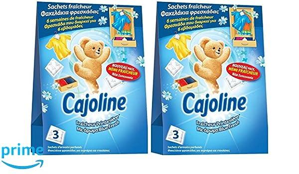 Cajoline - Bolsas de suavizante de frescura primaveral para el armario, 3 unidades, Lote de 2: Amazon.es: Salud y cuidado personal