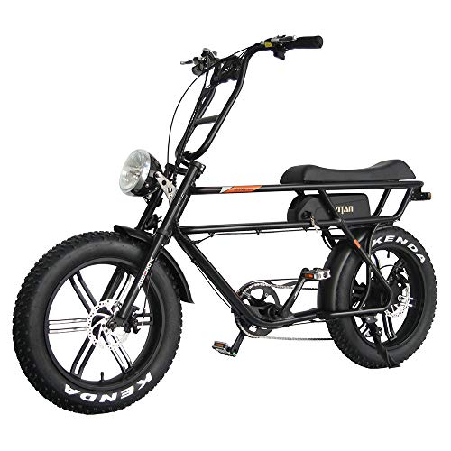 Addmotor MOTAN Electric Bikes For Adults,750W Motor 20 Inch Fat Tire Battery Powered Assit Bicycles, 48V 14.5Ah Lithium Battery M-70 Platinum Cruiser Retro Ebike(Black)