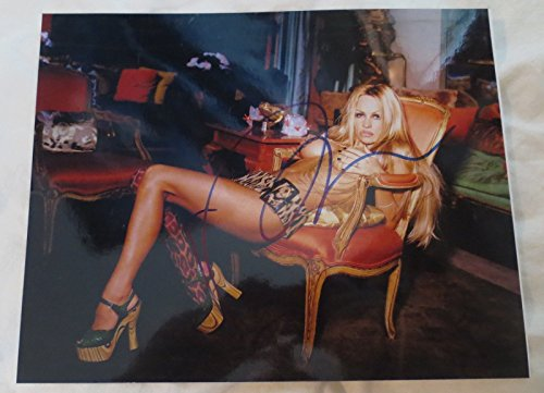 HOT SEXY PAMELA ANDERSON SIGNED 8X10 PHOTO AUTOGRAPH BAYWATCH TOOL TIME COA O