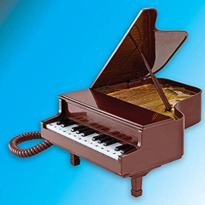 Elegant Fashion Creative Novelty Lovely Classical Vintage Antique Piano Shape New Cord Phone Home Office Desk Telephone