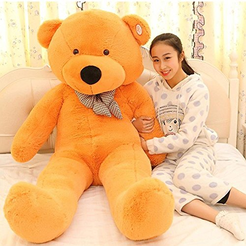 Lovely Teddy Bear With Tie Soft Sleeping Pillow Plush Animal Toys