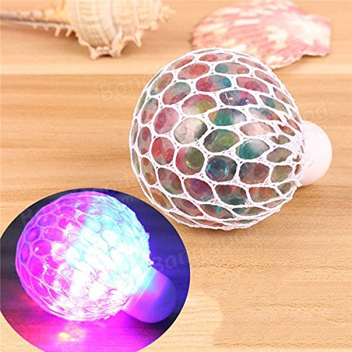 Global Colorful Flashing LED Nachtlicht Vent Grape Squeeze Ball Antistress Dekompression Fancy Toy