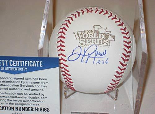 Daniel Nava Signed Baseball - Official 2013 WORLD SERIES w Beckett COA - Beckett Authentication - Autographed - Autographed World Baseball Series Official