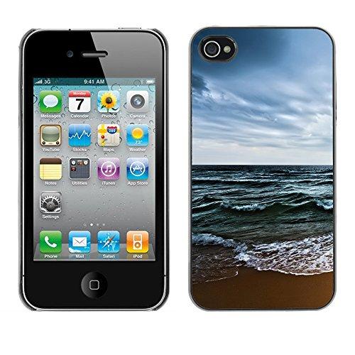 Hülle Case Schutzhülle Cover Premium Case // V00002621 Strand // Apple iPhone 4 4S 4G