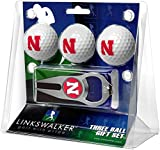 LinksWalker NCAA Nebraska Cornhuskers - 3 Ball Gift Pack with Hat Trick Divot Tool