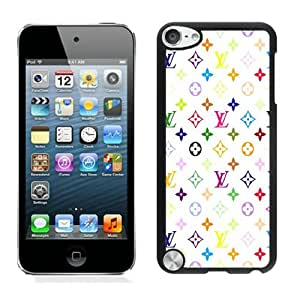 Louis Vuitton Patterns On White Background Black New Personalized Custom iPod Touch 5 Case