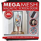Magnetic Screen Door - Heavy Duty Reinforced Mesh & Full Frame Hook & Loop ACTUAL SCREEN SIZE 36