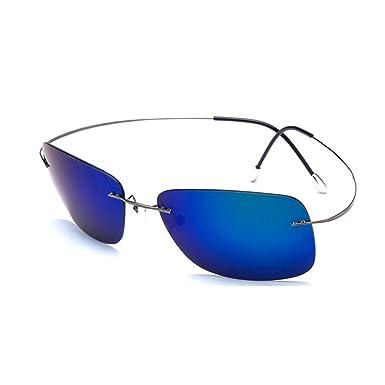 Azue UV-SchutzPolarisierteSonnenbrillemitSuperleichtenTitanRandloseRahmen Gelb Aema2pIj