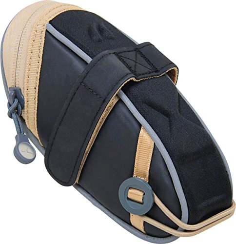 - Detours Wedgie Seat Bag: MD, Black/Tan Coated