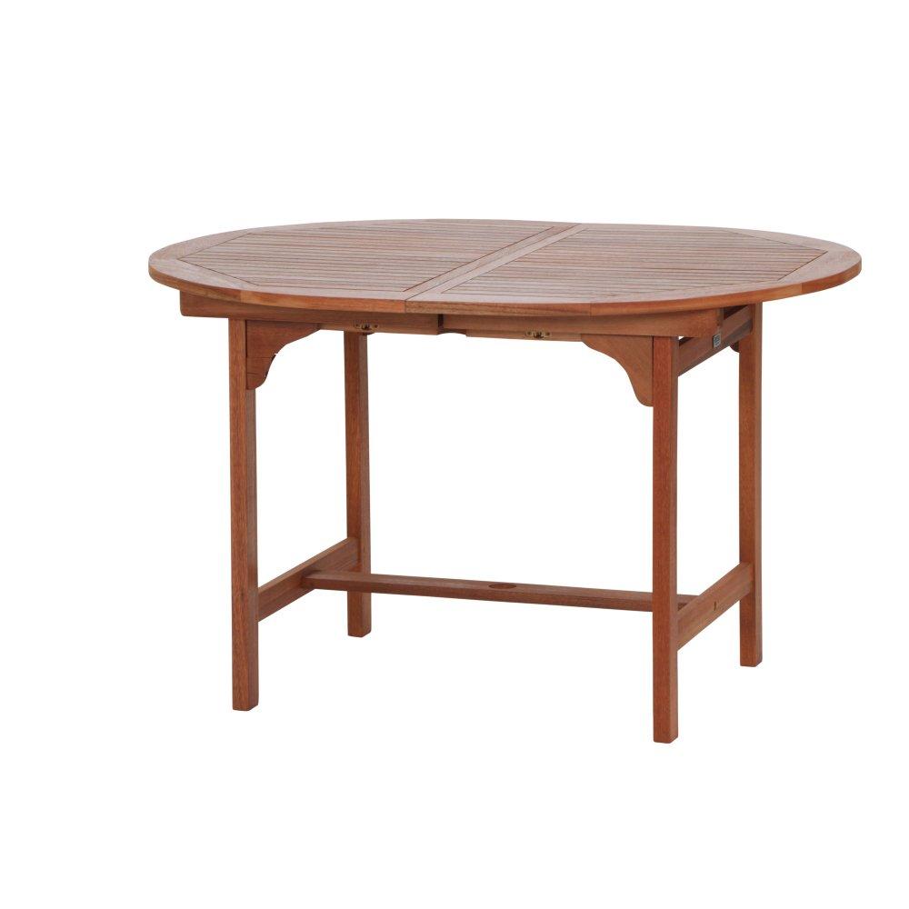 Siena Garden 657022 Nassau Table Extensible Eucalyptus-Acier Galvanisé 120-170 x 100 cm