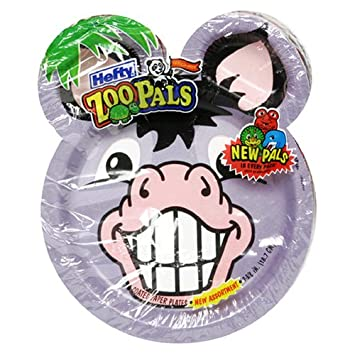 Hefty Zoo Pals Plates 20 Count Packs Pack Of 10 Amazon Co Uk