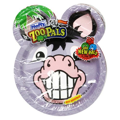 Hefty Zoo Pals Plates, 20 Count Packs (Pack of 10)