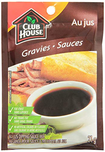 Club House Au Jus Gravy Dipping Sauce Mix, 21g/1oz, Imported from Canada}