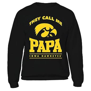 info for 59d12 b8fd8 Iowa Hawkeyes They Call Me Papa Black Crewneck Sweatshirt - Official Apparel