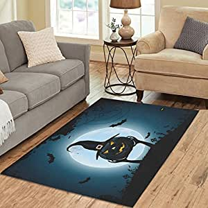 Custom Fashion Home Decorator Halloween Zombie Area Rug Floor Rug Carpets