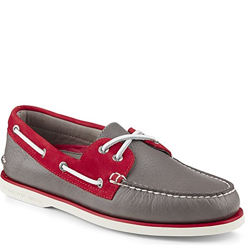 Sperry Top-Sider Gold Cup Authentic Original Boat Shoe Grey/Red 76lx2h
