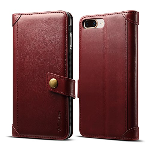 - Spaysi iPhone 8 Plus Wallet Case Italian Genuine Leather Handmade Case for iPhone 8 Plus Card Holder Case Slim iPhone 8 Plus Flip Case Book Style iPhone 8 Plus Folio Case with Magnetic Closure (Wine)