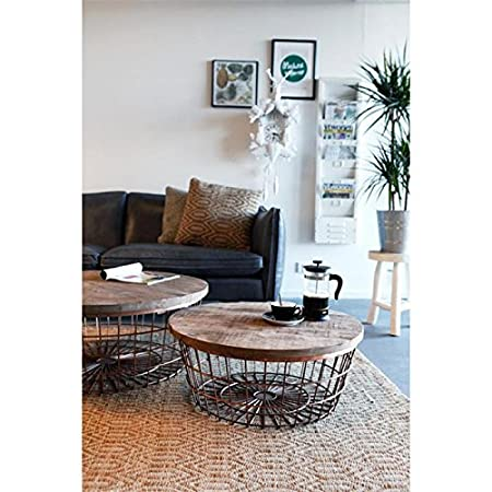 New glory coffee table by boo wire basket with storage space 90 new glory coffee table by boo wire basket with storage space 90 cm greentooth Images