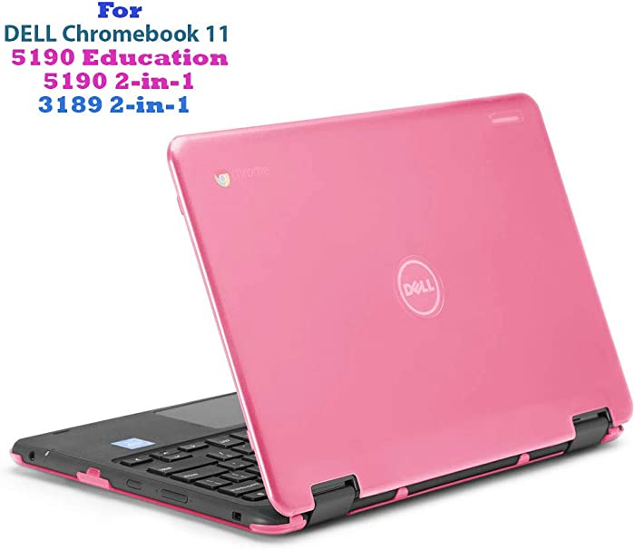 "mCover Hard Shell Case for 11.6"" Dell Chromebook 11 5190 3189 Series Education or 2-in-1 Laptop (NOT Compatible with 210-ACDU / 3120/3180 Series) - Dell-C11-5190 Pink"
