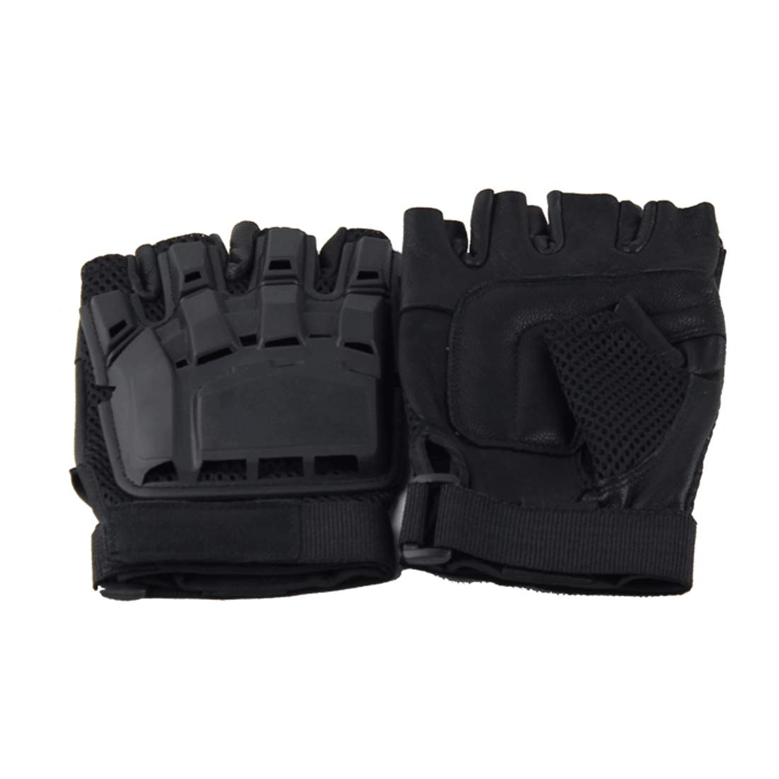 Carriemeow Outdoor Tactical Half Finger Gloves Cycling Sports Mountaineering Protective Half Finger Gloves