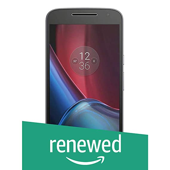 (Renewed) Motorola G4 Plus XT1643 (Black, 32GB)