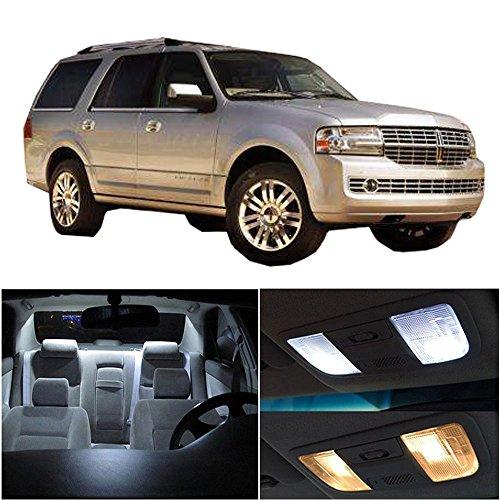 Navigator Lincoln Chrome (cciyu Replacement fit for Lincoln Navigator 2007-2017 Interior LED Light Package Kit 8 Pack White Light)