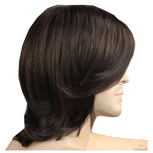 KOLIGHT Hot Men Brown Hair Wigs Brown Short Wigs for Artistic Men Wigs Natural Looking Hair Wig ()