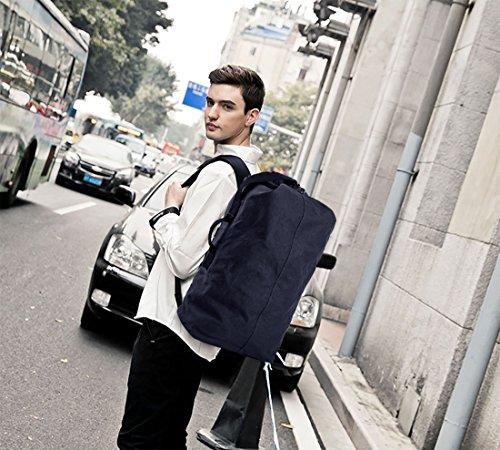 Hombre Bolso Lona Aire Casual Estudiante Viaje Fandare Senderismo Al Azul Marrón Escuela Libre Morral Excursionismo Mujeres Mochila Las q7fPxfZwR