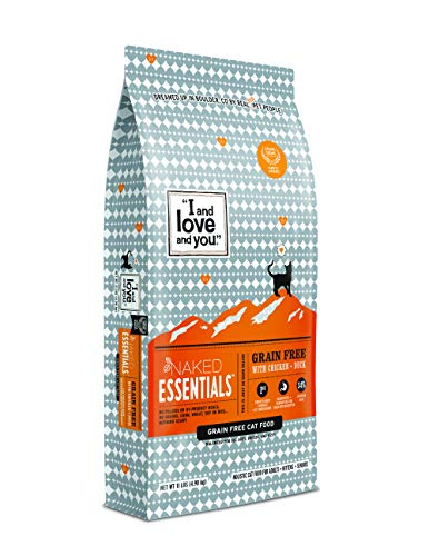 I and Love and You Naked Essentials Dry Cat Food – Natural Grain Free Kibble (Variety of Flavors)