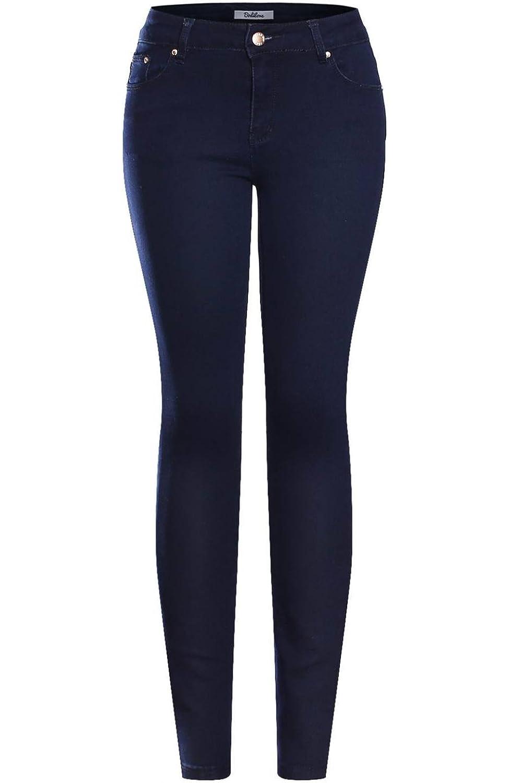 2LUV Women's Stretchy 5 Pocket Dark Denim Skinny JeansÂ